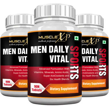 MuscleXP Men Daily Vital Sports   Tablet (Pack OF 3)
