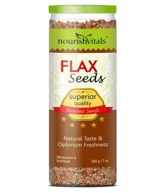 NourishVitals Roasted Flax Seeds