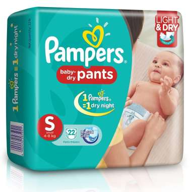 PAMPERS BABY DRY PANTS DIAPER (SMALL)
