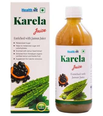 HEALTHVIT KARELA WITH JAMUN JUICE