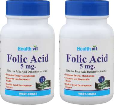 HealthVit Folic Acid 5mg Tablet (Pack OF 2)
