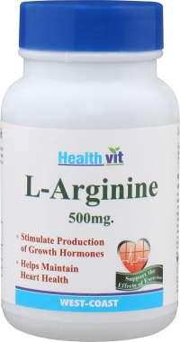 HEALTHVIT L- ARGININE 500MG CAPSULE