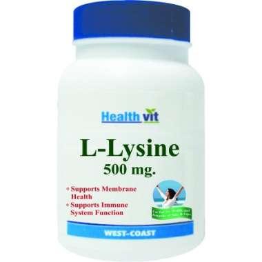 HealthVit L- Lysine 500mg  Tablet