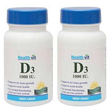 HEALTHVIT VITAMIN D3   1000 IU TABLET (PACK OF 2)