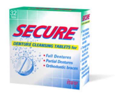 SECURE DENTURE CLEANSING TABLET