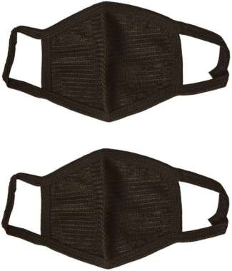 TFS BLACK POLLUTION WASHABLE MASK PACK OF 2