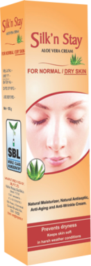 SILK N STAY ALOE VERA CREAM FOR NORMAL AND DRY SKIN