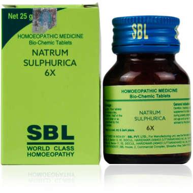 SBL Natrum Sulphurica Biochemic Tablet 6X
