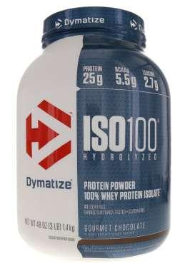 DYMATIZE ISO-100 HYDROLIZED 100% WHEY PROTEIN ISLOATE GOURMET CHOCOLATE