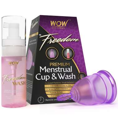 Wow freedom reusable menstrual cup and wash l packet of 1 - Buy diva cup ...