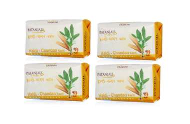PATANJALI HALDI CHANDAN KANTI BODY CLEANSER (PACK OF 4)