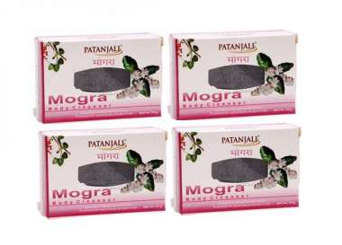 PATANJALI MOGRA BODY CLEANSER (PACK OF 4) SOAP