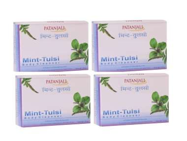 PATANJALI MINT TULSI  BODY CLEANSER (PACK OF 4)