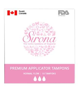 Sirona Premium Applicator Tampons Normal Flow Tampons