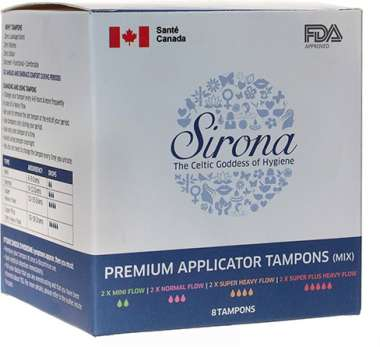 Sirona Premium Applicator Tampons Mix Pack Tampons