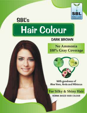 SBL HAIR COLOUR 12 SACHETS DARK BROWN