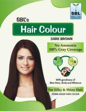 SBL Hair Colour 12 Sachets Dark Brown