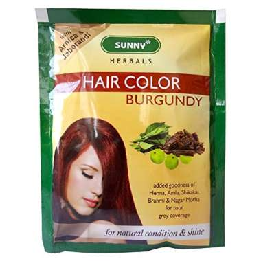 BAKSONS SUNNY HAIR COLOR BURGUNDY POWDER