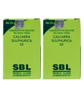SBL CALCAREA SULPHURICA BIOCHEMIC TABLET 3X