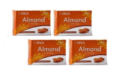 Jiva Almond Scrub Soap Pack of 4