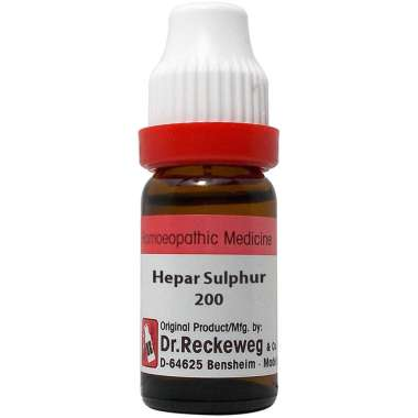 DR. RECKEWEG HEPAR SULPHUR DILUTION 200CH
