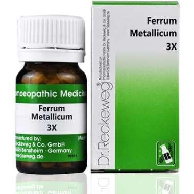 DR. RECKEWEG FERRUM METALLICUM TRITURATION TABLET 3X