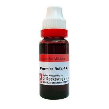 DR. RECKEWEG FORMICA RUFA 4X MOTHER TINCTURE Q