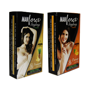 Manforce Staylong Condom Combo (Orange + Pineapple)