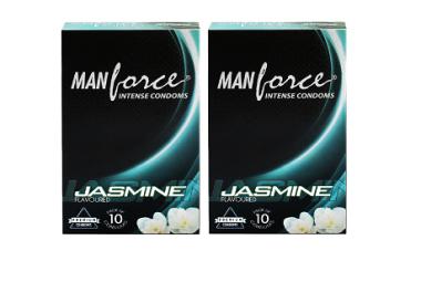 MANFORCE INTENSE CONDOM JASMINE PACK OF 2