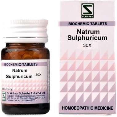 DR WILLMAR SCHWABE NATRUM SULPHURICUM BIOCHEMIC TABLET 30X