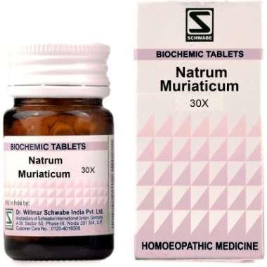 DR WILLMAR SCHWABE NATRUM MURIATICUM BIOCHEMIC TABLET 30X
