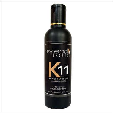 DR. LORMANS K 11 BLACK HAIR OIL WITH BHRINGRAJ OIL
