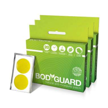 BODYGUARD PREMIUM NATURAL ANTI-MOSQUITO PATCH PACK OF 3
