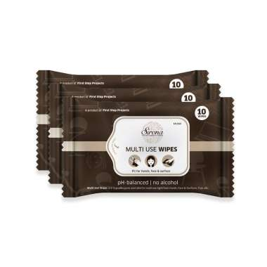 Sirona Multi Use Wipes Pack of 3