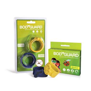 Bodyguard Natural Anti-Mosquito Patch (20) & Natural Mosquito Repellent Band (2)