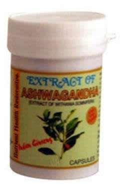 INDIAN REMEDIES EXTRACT OF ASHWAGANDHA CAPSULE