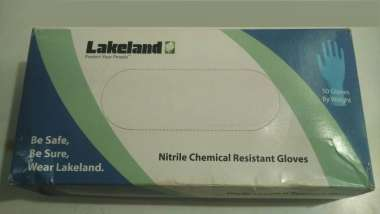 LAKELAND NITRILE CHEMICAL RESISTANT GLOVE L