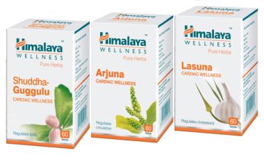 Himalaya Cardiac Care Combo Pack (Arjuna 60 Tablets, Lasuna 60 Tablets, Shuddha Guggulu 60 Tablets)
