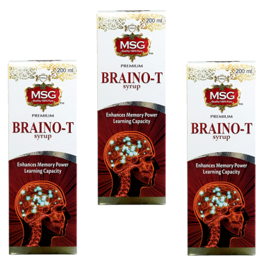 MSG Braino-T Syrup Pack of 3
