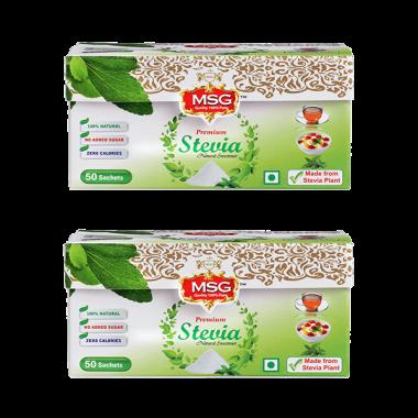 MSG Stevia Sachet Pack of 2