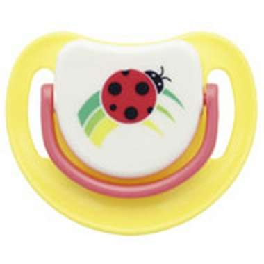 Pigeon Silicone Pacifier Step 1, Lady Bird