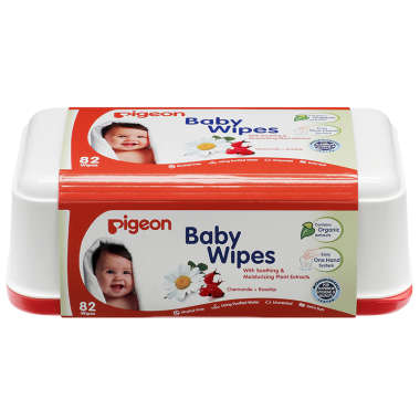 Pigeon Baby Wipes, Chamomile+rosehip