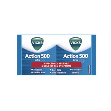 Vicks Action 500 Extra Tablet
