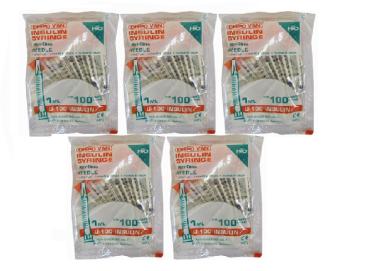 Dispovan Unitpack U-100 Insulin Syringe Pack of 5