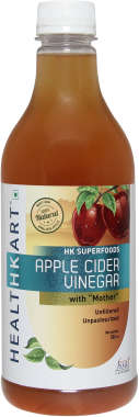 HealthKart Apple Cider Vinegar with Mother, Unfiltered, Unpasteurized