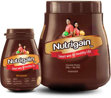 Ayurwin Combo Pack OF Nutrigain Plus, 60Caps & Nutrigain Plus Powder, 500gm (Chocolate)