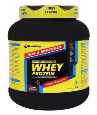 MuscleBlaze Whey Protein with Digestive Enzyme Rich Milk Chocolate