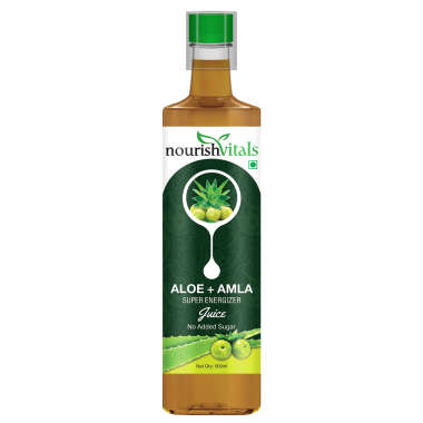 NourishVitals Aloe Vera with Amla Super Energizer Juice