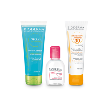 BIODERMA Sun Protection Combo for Acne Prone Skin with Travel Pack