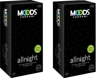 MOODS Allnight  Condom Pack of 2